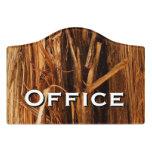 Cedar Textured Wooden Bark Look Door Sign