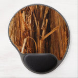 Cedar Textured Wooden Bark Look Gel Mouse Pad