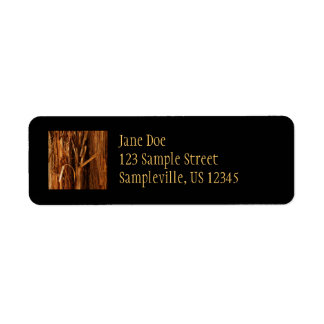 Cedar Textured Wooden Bark Look Label