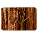 Cedar Textured Wooden Bark Look Magnet