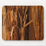 Cedar Textured Wooden Bark Look Mouse Pad
