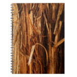 Cedar Textured Wooden Bark Look Notebook