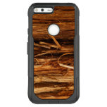 Cedar Textured Wooden Bark Look OtterBox Commuter Google Pixel XL Case