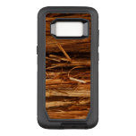 Cedar Textured Wooden Bark Look OtterBox Defender Samsung Galaxy S8 Case
