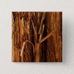 Cedar Textured Wooden Bark Look Pinback Button