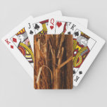 Cedar Textured Wooden Bark Look Playing Cards