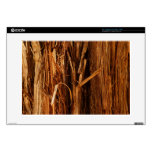 "Cedar Textured Wooden Bark Look Skin For 15"" Laptop"