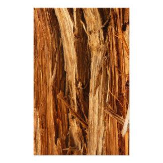 Cedar Textured Wooden Bark Look Stationery