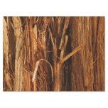 Cedar Textured Wooden Bark Look Tissue Paper