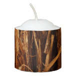 Cedar Textured Wooden Bark Look Votive Candle