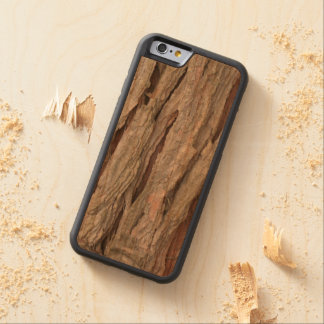 Cedar tree bark texture carved cherry iPhone 6 bumper case