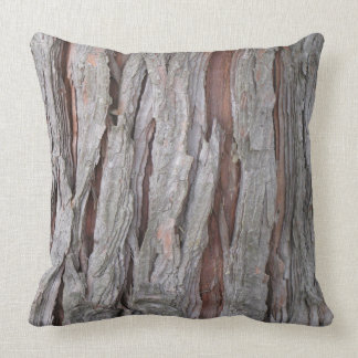 Cedar tree bark texture throw pillow