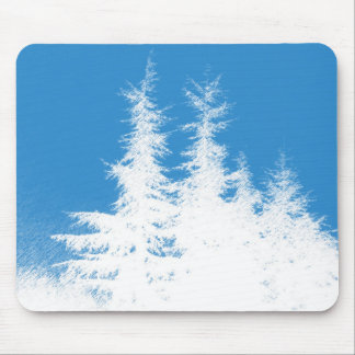 Cedar Trees Sketch Mouse Pad