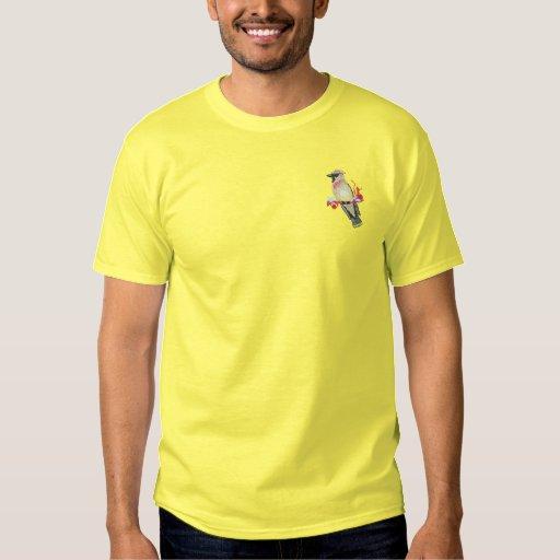 Cedar Waxwing Embroidered T-Shirt