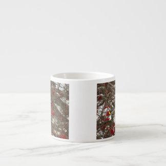 Cedar Waxwing Espresso Cup