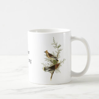 Cedar Waxwing, John Audubon Mug
