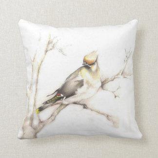 Cedar Waxwing pillow