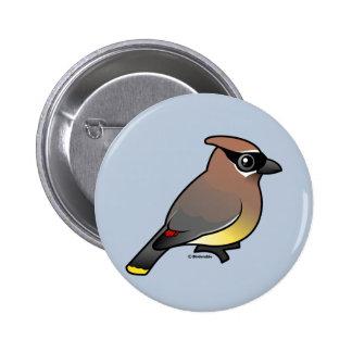 Cedar Waxwing Pinback Button