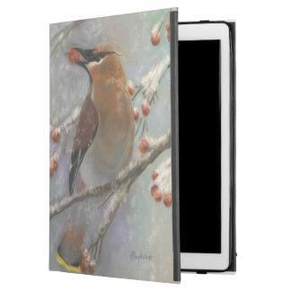 Cedar waxwing with berries iPad pro case
