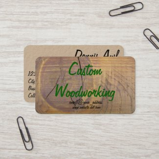 Cedar Wood Knot Photograph Business Card