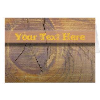 Cedar Wood Knot Photograph Card