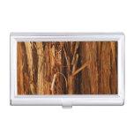 Cedar Wood Textured Bark Look Business Card Holders