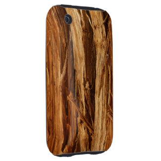 Cedar Wood Textured Bark Look iPhone 3 Tough Cover