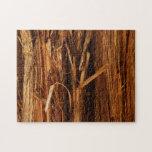 Cedar Wood Textured Bark Look Jigsaw Puzzle