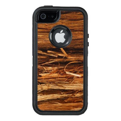Cedar Wood Textured Bark Look OtterBox iPhone 5/5s/SE Case
