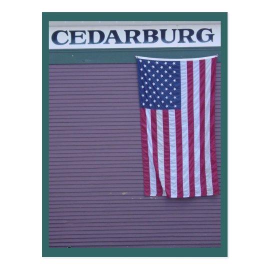 Cedarburg Flag Postcard