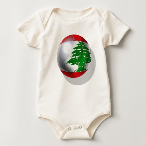 Cedars Lebanon soccer football team flag ball Baby Bodysuit