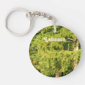 Cedars of Lebanon Single-Sided Round Acrylic Keychain