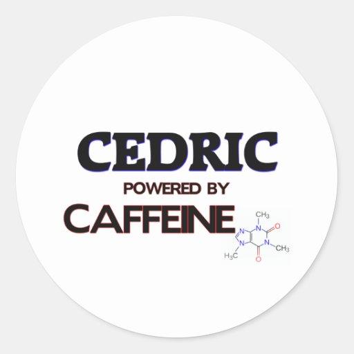 Cedric accionó por el cafeína pegatina redonda