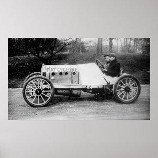 Cedrino in the Fiat Cyclone 1900's Poster