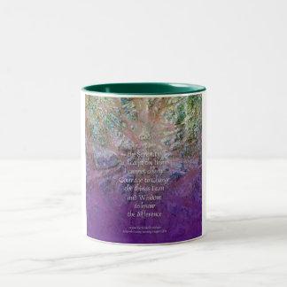 Cedro de incienso del rezo de la serenidad taza de dos tonos