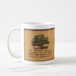Cedro de la taza de café de Líbano