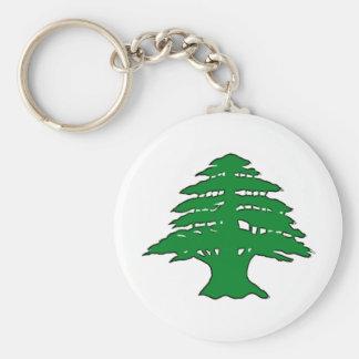Cedro libanés llavero redondo tipo pin
