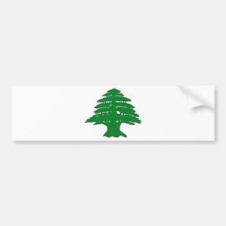 Cedro libanés pegatina para auto