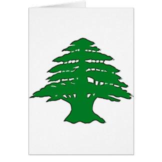 Cedro libanés tarjeta de felicitación