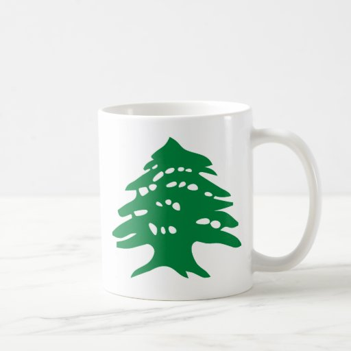 Cedro verde de Líbano Taza Clásica