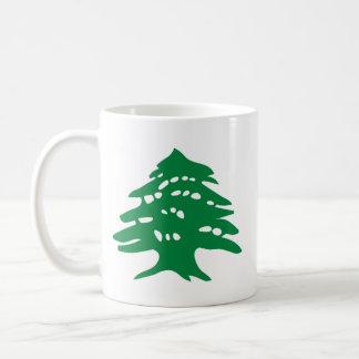 """Cedro verde """"zurdo"""" de Líbano Taza De Café"""