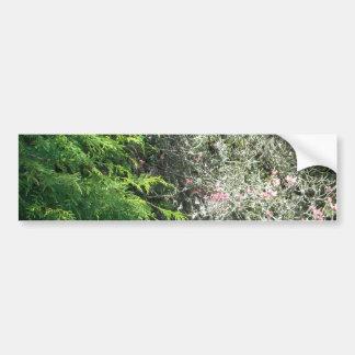 Cedro y Dogwood rosado Pegatina Para Auto
