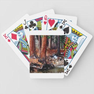 Cedros de la cala de Yosemite de los árboles Baraja Cartas De Poker
