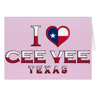 Cee Vee, Texas Greeting Card