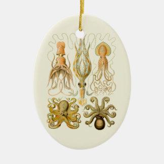 Cefalópodos del vintage ornamento de navidad