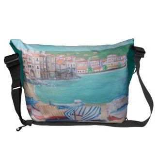 Cefalu Beach, Large Messenger Bag