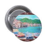 Cefalu, botón de Sicilia Pins
