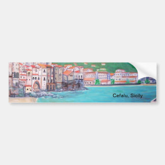 Cefalu, pegatina para el parachoques de Sicilia Pegatina Para Auto