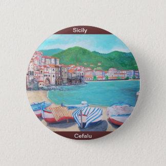 Cefalu, Sicily Button