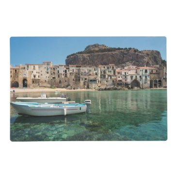 Cefalu town in Sicily Placemat